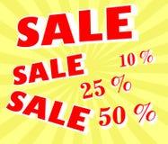 Annuncio di vendita a ribasso Immagine Stock Libera da Diritti
