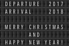 Annuncio Flip Mechanical Timetable dell'aeroporto con Hapy C allegra Immagine Stock Libera da Diritti