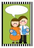 Annuncio gemellare del bambino dei ragazzi Royalty Illustrazione gratis