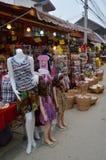 Annuncio pubblicitario di affari alla strada culturale di chiang khan Fotografia Stock