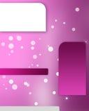 Annuncio rosa Immagine Stock