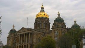 Annuvolamento del Campidoglio dello stato dello Iowa Immagini Stock
