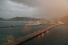 Annuvolamento sul porto dell'yacht Immagine Stock