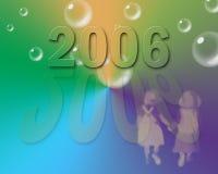 Ano 2006 ilustração royalty free