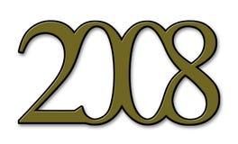 Ano 2008 Fotografia de Stock Royalty Free