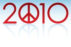 Ano 2010 da paz Imagens de Stock