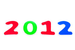 Ano 2012 Fotografia de Stock