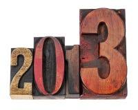 Ano 2013 no tipo de madeira Foto de Stock