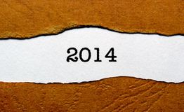 Ano 2014 Foto de Stock