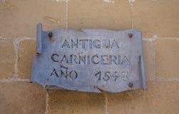 Ano 1548 carniceria της Αντίγκουα Στοκ φωτογραφία με δικαίωμα ελεύθερης χρήσης