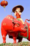 Ano chinês do boi. Fotografia de Stock