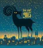 Ano da cabra Foto de Stock