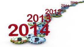 Ano da expiração ilustração stock