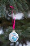 Ano da quinquilharia do Natal da cabra Foto de Stock