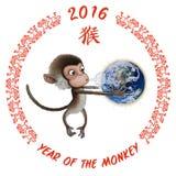 Ano da terra do macaco imagens de stock