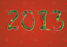 Ano de 2013 chineses de serpente Imagens de Stock Royalty Free