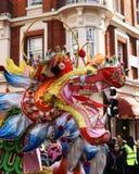 Ano de Dragon Head London Chinese New do chinês Fotos de Stock Royalty Free