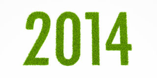 ano de 2014 gramas ilustração do vetor