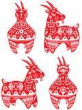 Ano de grupo da ilustração da cabra Fotos de Stock Royalty Free