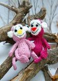 Ano de macaco, brinquedo feito malha, símbolo, feito a mão Foto de Stock