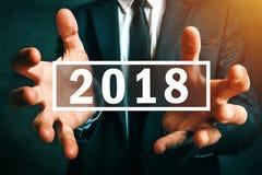 Ano 2018 de negócio novo feliz Imagens de Stock Royalty Free