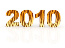 Ano de um tigre ilustração do vetor