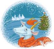 Ano de uma cabra azul Fotografia de Stock Royalty Free