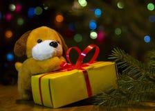 2018 - ano do cão amarelo fotografia de stock