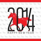 Ano do cartão do cavalo Fotos de Stock Royalty Free