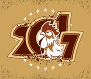 Ano do logotipo do galo Imagens de Stock Royalty Free