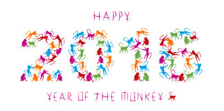 Ano do macaco Fotos de Stock