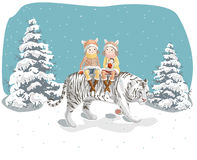 Ano do tigre Fotografia de Stock Royalty Free