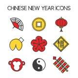 Ano dos ícones do macaco Imagens de Stock