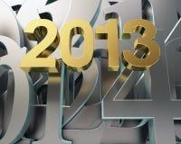 Ano dourado 2013 Fotos de Stock