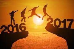 Ano feliz 2017 da notícia Foto de Stock Royalty Free