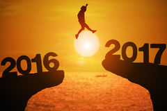 Ano feliz 2017 da notícia Fotografia de Stock