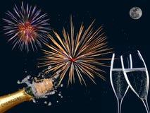 Ano feliz do bew dos fogos-de-artifício Fotografia de Stock Royalty Free