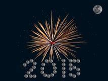 Ano feliz do bew dos fogos-de-artifício Imagem de Stock Royalty Free