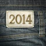 Ano 2014 - forma das calças de brim  Imagem de Stock Royalty Free