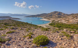 Ano Myrsini bay, Polyaigos island, Greece Stock Images