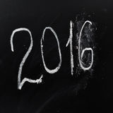 Ano número 2016 escrito na placa Fotos de Stock