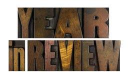 Ano na revisão Imagem de Stock