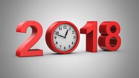 Ano novo 2018 ilustração do vetor