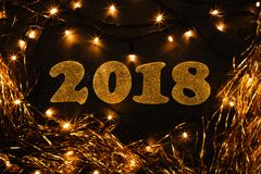 Ano novo 2018 Fotos de Stock