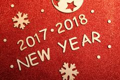 Ano novo 2017 - 2018 Imagens de Stock Royalty Free