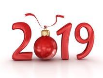 Ano novo 2019 ilustração do vetor