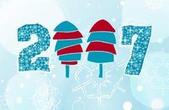 Ano novo ilustração stock