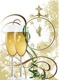 Ano novo. ilustração do vetor