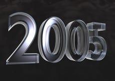 Ano novo 2005 no vidro (3D) Fotos de Stock