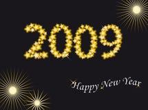 Ano novo 2009 ilustração do vetor